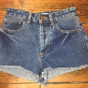 Brand new Forever 21 high waisted denim shorts